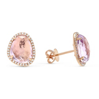 14K_Rose_Gold_Rose_Cut_Amethyst_and_Round_Diamond_Earrings