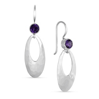 Sterling_Silver_and_Amethyst_Hammered_Oval_Drop_Earrings_________________