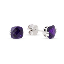 14K_White_Gold_Checkerboard_Cushion_Amethyst_Earrings