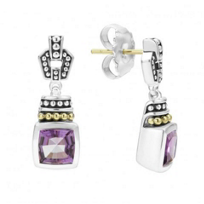 lagos_sterling_silver_&_18k_yellow_gold_caviar_color_amethyst_drop_earrings