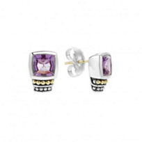 lagos_sterling_silver_&_18k_yellow_gold_caviar_color_amethyst_post_earrings