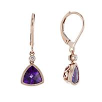 14k_rose_gold_checkerboard_trillion_amethyst_&_diamond_milgrain_bezel_drop_earrings