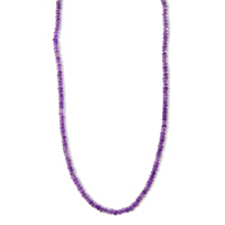 """Amethyst_Faceted_Bead_Necklace,_18"""""""