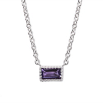 14K_White_Gold_Baguette_Amethyst_Necklace