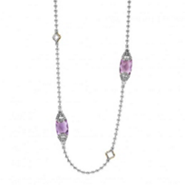 lagos_sterling_silver_&_18k_yellow_gold_caviar_color_amethyst_station_necklace,_34""