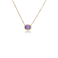 """14k_yellow_gold_oval_amethyst_rope_bezel_set_necklace,_19"""""""