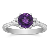 14K_White_Gold_Round_Amethyst_and_Round_Diamond_Ring,_7mm