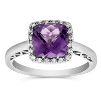 14K_White_Gold_Checkerboard_Cushion_Amethyst_and_Diamond_Ring_