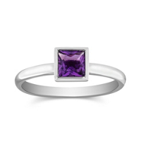 14K_White_Gold_Bezel_Set_Princess_Cut_Amethyst_Ring