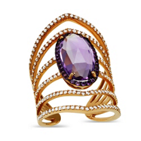 14K_Rose_Gold_Oval_Checkerboard_Faceted_Amethyst_and_Round_Diamond_Ring