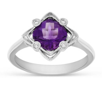 14K_White_Gold_Cushion_Amethyst_and_Round_Diamond_Filigree_Ring