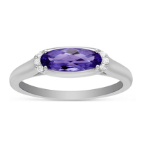 14K_White_Gold_Oval_Amethyst_and_Round_Diamond_East_West_Ring