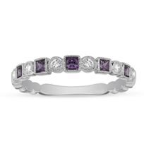 14K_White_Gold_Amethyst_&_Diamond_Geometric_Ring