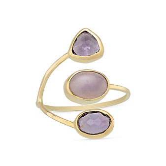 Melissa Joy Manning 14K Yellow Gold Amethyst & Lavender Chalcedony Ring