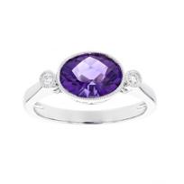 14k_white_gold_oval_checkerboard_amethyst_and_diamond_milgrain_ring