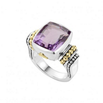 lagos_sterling_silver_&_18k_yellow_gold_caviar_color_amethyst_large_ring
