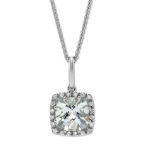 14K_White_Gold_Checkerboard_Cushion_Aquamarine_and_Diamond_Frame_Pendant