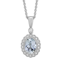 14K_White_Gold_Oval_Checkerboard_Aquamarine_and_Round_Diamond_Halo_Pendant