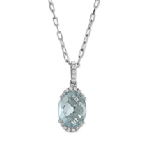 14K_White_Gold_Oval_Checkerboard_Aquamarine_and_Diamond_Pendant