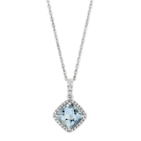 14K_White_Gold_Checkerboard_Aquamarine_and_Diamond_Halo_Pendant