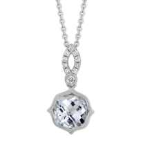 14K_White_Gold_Checkerboard_Cushion_Aquamarine_and_Round_Diamond_Pendant