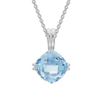 14K_White_Gold_Checkerboard_Cushion_Aquamarine_Pendant,_18""