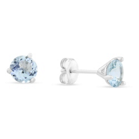 14K_White_Gold_round_Faceted_Aquamarine_Earrings,_6mm