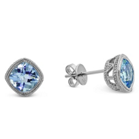 14K_White_Gold_Cushion_Checkerboard_Aquamarine_Bezel_Set_Earrings