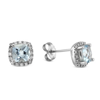 14K_White_Gold_Aquamarine_and_Round_Diamond_Frame_Earrings