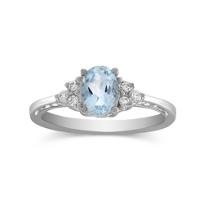 14K_White_Gold_Oval_Aquamarine_and_Round_Diamond_Ring