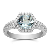 18K_White_Gold_Hexagon_Aquamarine_and_Round_Diamond_Ring