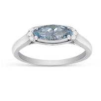 14K_White_Gold_Checkerboard_Faceted_Oval_Aquamarine_and_Diamond_Ring