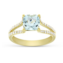 14K_Yellow_Gold_Cushion_Aquamarine_and_Round_Diamond_Split_Shoulder_Ring