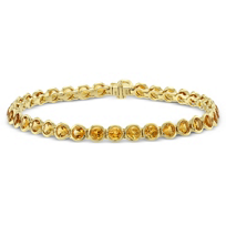 14K_Yellow_Gold_Bezel_Set_Citrine_Bracelet