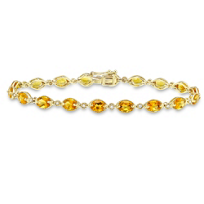 14K_Yellow_Gold_Oval_Citrine_and_Round_Diamond_Bracelet