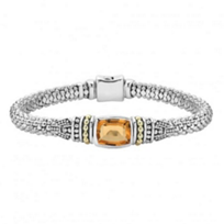 lagos_sterling_silver_&_18k_yellow_gold_caviar_color_citrine_bracelet