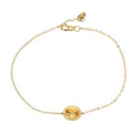 """14k_yellow_gold_citrine_rope_bezel_set_bracelet,_7.5"""""""