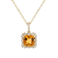 18k_yellow_gold_cushion_checkerboard_citrine_&_diamond_frame_pendant,_16""