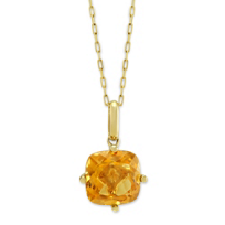 14K_Yellow_Gold_Cushion_Citrine_Pendant