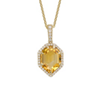 14K_Yellow_Gold_Fancy_Stepcut_Citrine_&_Diamond_Pendant,_0.24cttw