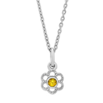 Sterling_Silver_Children's_Citrine_Flower_Pendant