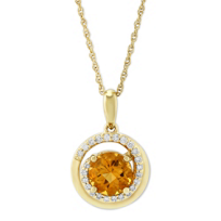 14K_Yellow_Gold_Citrine_&_Round_Diamond_Swirl_Pendant