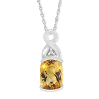 14K_White_Gold_Checkerboard_Citrine_and_Round_Diamond_Pendant