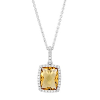 14K_White_Gold_Checkerboard_Cushion_Citrine_and_Round_Diamond_Halo_Pendant