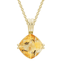 14K_Yellow_Gold_Checkerboard_Cushion_Citrine_Pendant,_18""