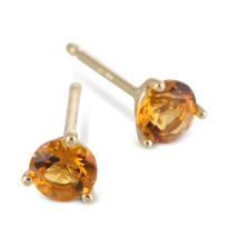 14K_Yellow_Gold_Round_Citrine_Stud_Earrings,_4mm