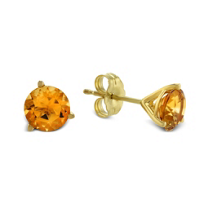 14K_Yellow_Gold_Round_Citrine_Stud_Earrings,_6mm