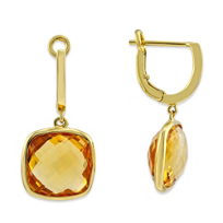 14K_Yellow_Gold_Checkerboard_Cushion_Citrine_Drop_Earrings