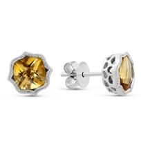 14K_White_Gold_Cushion_Citrine_Earrings_with_Double_Milgrain