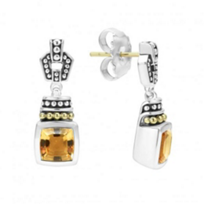 lagos_sterling_silver_&_18k_yellow_gold_caviar_color_citrine_drop_earrings
